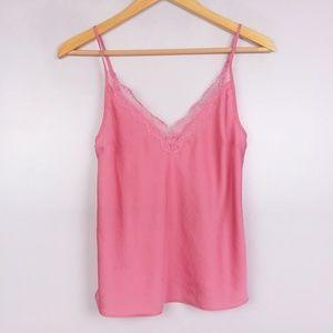 Victoria's Secret Pink Two Piece Lace Trim PJ Set